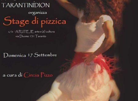 """Tarantìnula"" – Stage di Pizzica Tarantina, 17 settembre 2017"