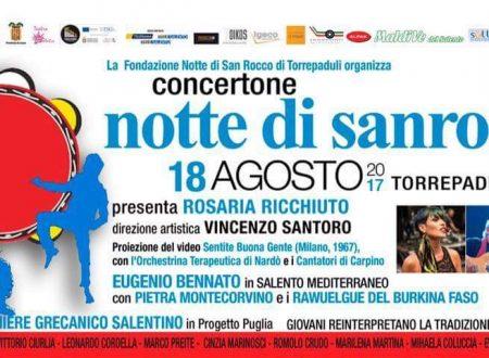 RITORNA IL CONCERTONE DELLA NOTTE DI SAN ROCCO DI TORREPADULI 2017